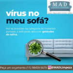 virus no sofa higienizacao mad